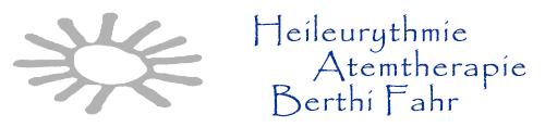 Heileurythmie – Atemtherapie – Berthi Fahr